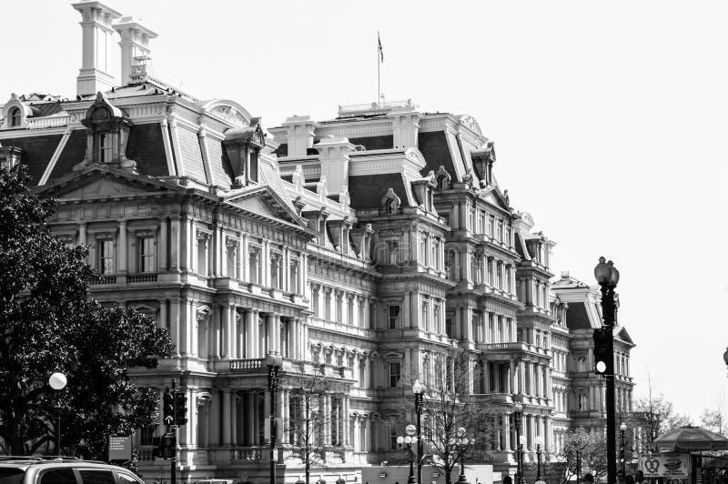 Κτήριο Eisenhower στο συνεχές ρεύμα στοκ φωτογραφίες