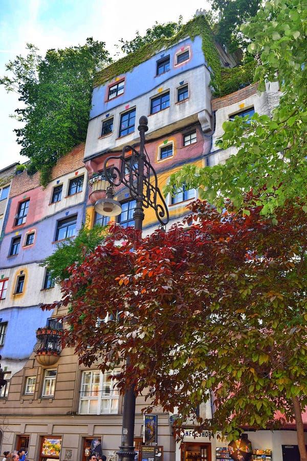 Κτήριο Hundertwasserhaus στοκ φωτογραφία με δικαίωμα ελεύθερης χρήσης