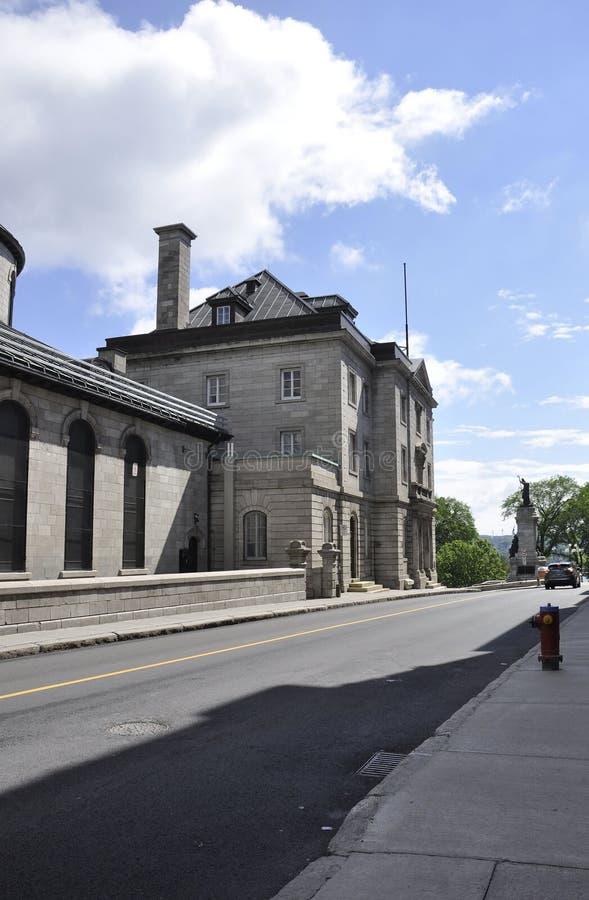 Κτήριο Laval ζωτικότητας κεντρικού δ ` από την παλαιά πόλη του Κεμπέκ στον Καναδά στοκ φωτογραφία με δικαίωμα ελεύθερης χρήσης