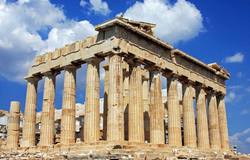 Κτήριο Parthenon πάνω από το Acropole, στην Αθήνα, Ελλάδα στοκ εικόνες