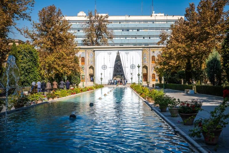 Κτήριο Takht ε Marmar στο παλάτι Golestan Τεχεράνη, Ιράν στοκ εικόνα