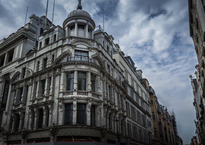 Κτήριο Trocadero στο Λονδίνο, Αγγλία στοκ φωτογραφίες