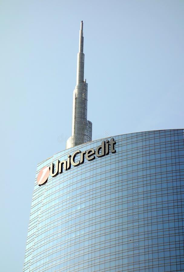 Κτήριο UniCredit στοκ φωτογραφίες