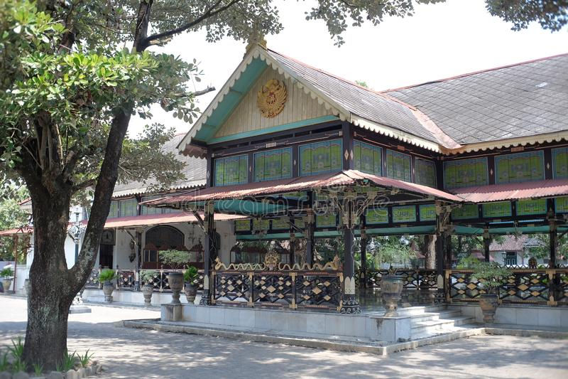 Κτίρια ιστορικής κληρονομιάς στο Συγκρότημα Παλατιού Γιογκιακάρτα στοκ φωτογραφία με δικαίωμα ελεύθερης χρήσης
