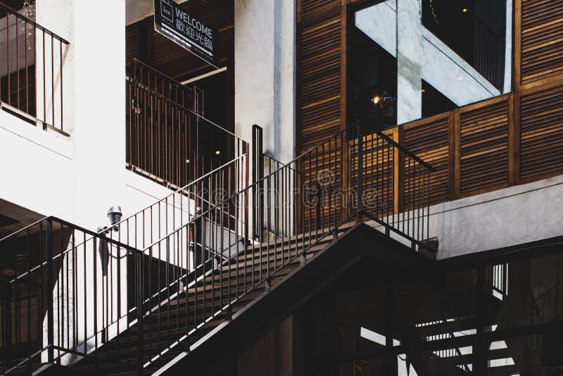 Κτίριο αρχιτεκτονικής αρχιτεκτονικής, One Nimman 07 Ιουνίου 2019, νέο δημοτικό σημείο στο Chiang Mai Thailand στοκ εικόνες με δικαίωμα ελεύθερης χρήσης