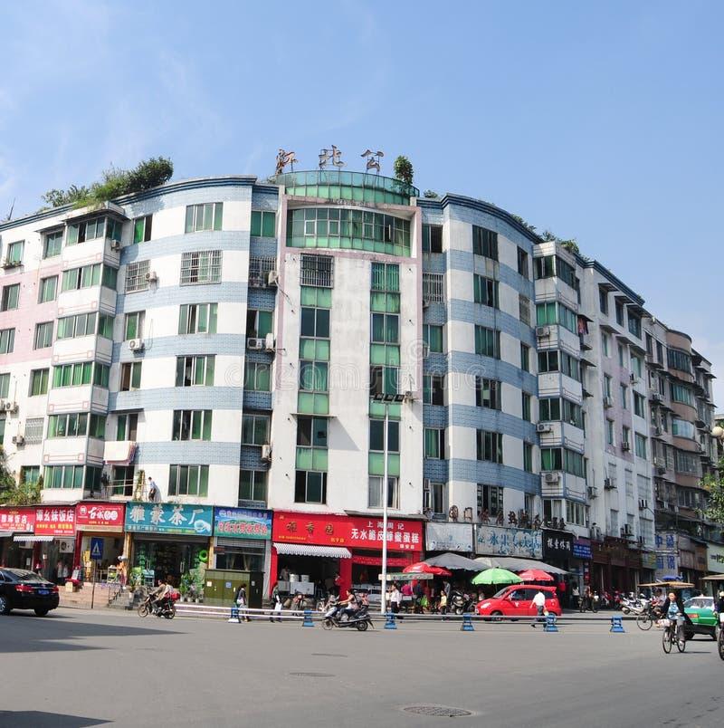 Κτίριο γραφείων εξωτερικό σε Chengdu στοκ εικόνα