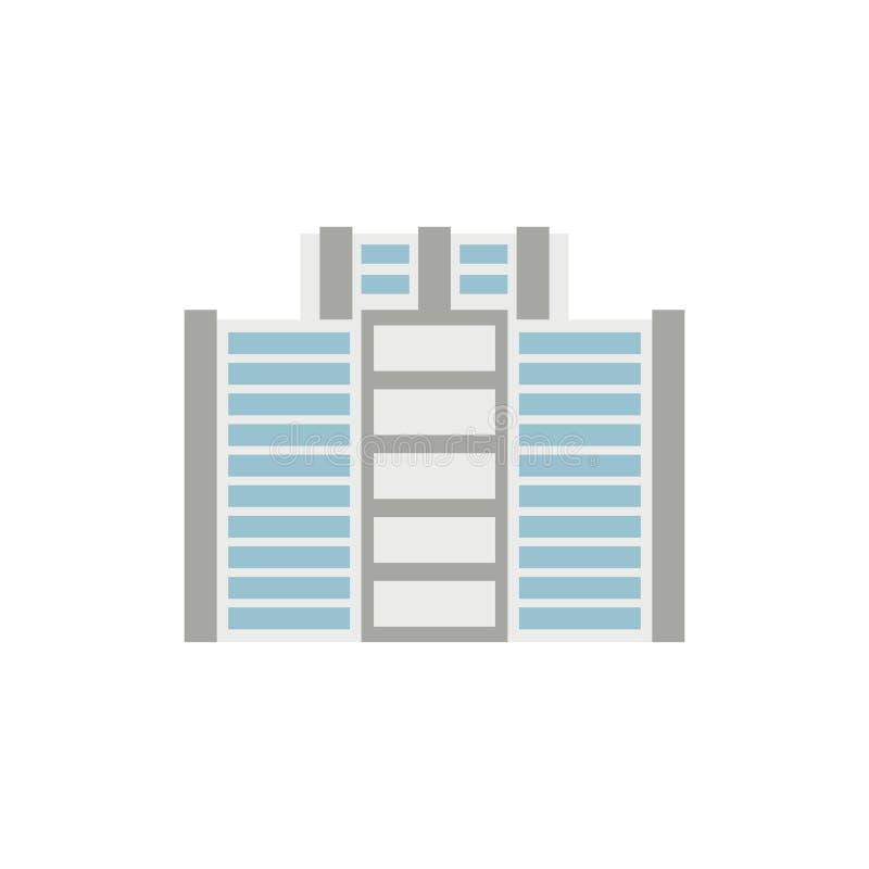 Κτίριο γραφείων που απομονώνεται σημάδι αρχιτεκτονικής πόλεων Επιχείρηση struc απεικόνιση αποθεμάτων