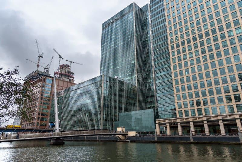 Κτίριο γραφείων της JP Morgan στο Canary Wharf στο Λονδίνο στοκ εικόνα