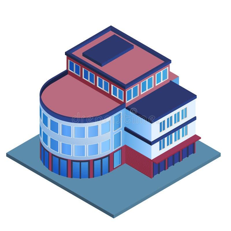 Κτίριο γραφείων isometric απεικόνιση αποθεμάτων