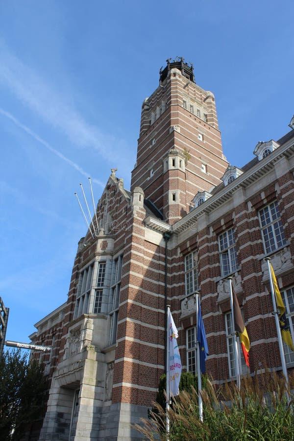 Κτίριο του Δικαστηρίου Dendermonde, Φλάνδρα, Βέλγιο στοκ εικόνα με δικαίωμα ελεύθερης χρήσης