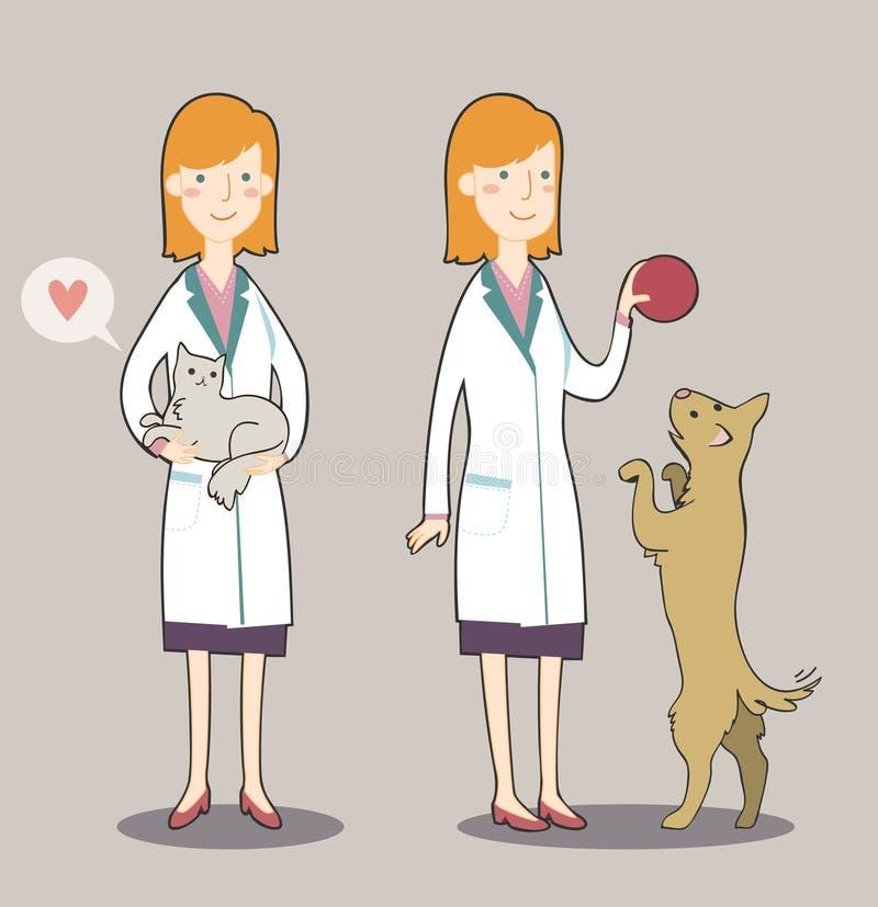Κτηνίατρος κινούμενων σχεδίων απεικόνιση αποθεμάτων
