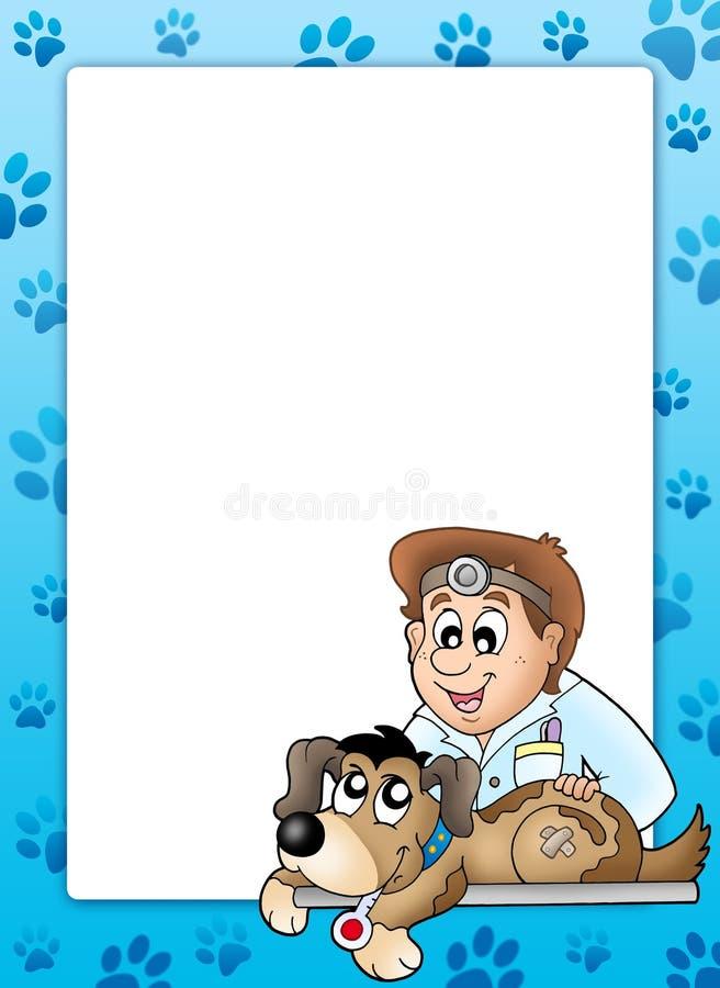 κτηνίατρος πλαισίων σκυ&lamb ελεύθερη απεικόνιση δικαιώματος