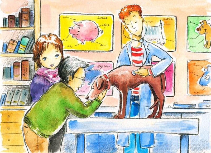 Κτηνίατρος διανυσματική απεικόνιση