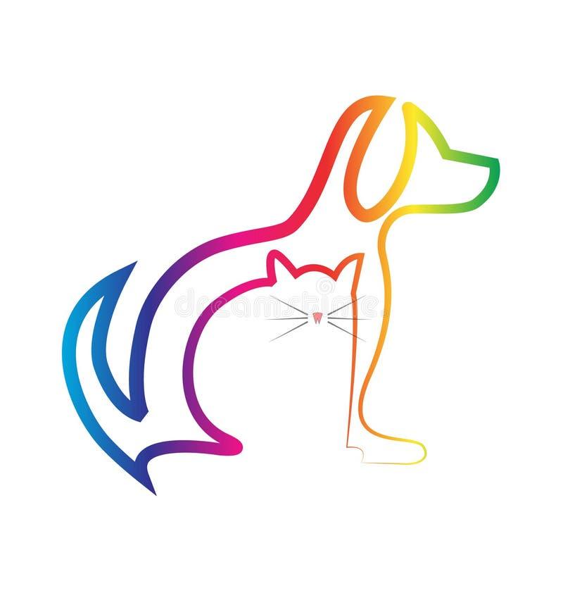 Κτηνιατρική απεικόνιση σκυλιών και γατών απεικόνιση αποθεμάτων
