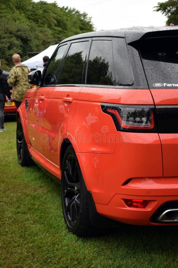 Κτηνωδώς Range Rover SVR 2018 στοκ εικόνες με δικαίωμα ελεύθερης χρήσης