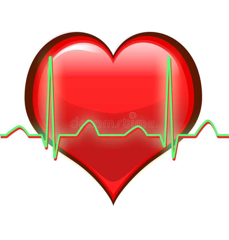 κτυπά την καρδιά απεικόνιση αποθεμάτων