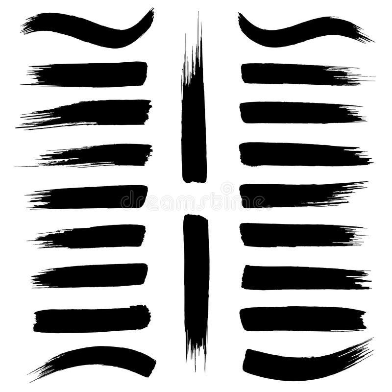 Κτυπήματα βουρτσών  διανυσματική απεικόνιση