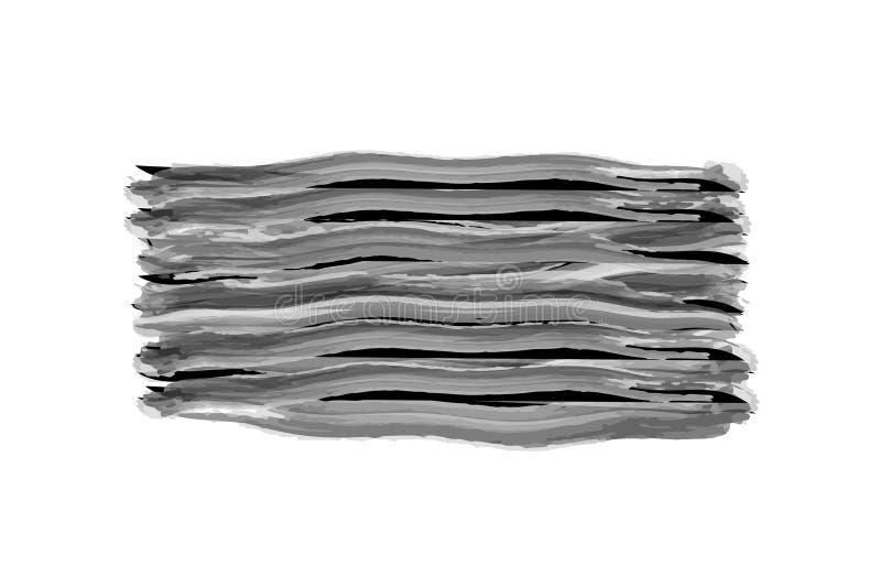 Κτυπήματα βουρτσών Watercolor απεικόνιση αποθεμάτων