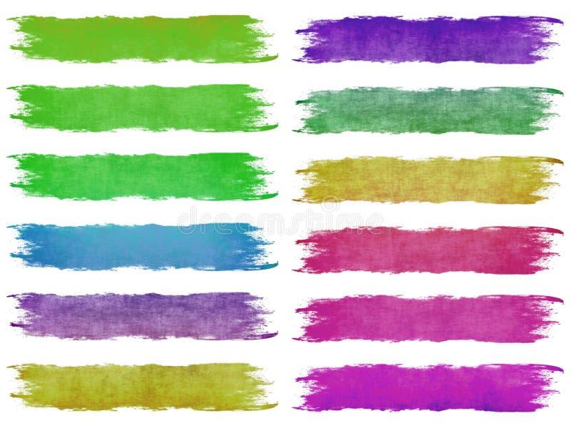 κτυπήματα χρωμάτων βουρτσ απεικόνιση αποθεμάτων