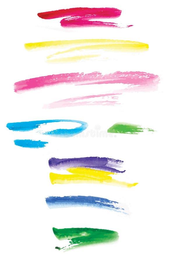 Κτυπήματα Watercolor διανυσματική απεικόνιση