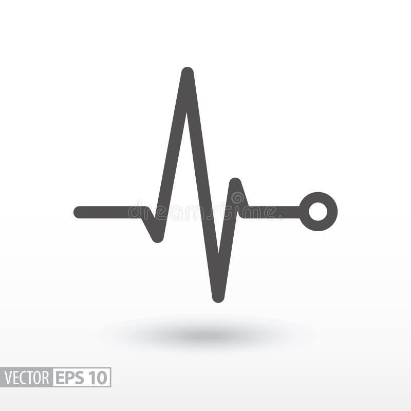 κτυπήστε την καρδιά καρδιογράφημα Καρδιακός κύκλος μαύρη ιατρική προστασία συκωτιού εικονιδίων αλλαγής απλά άσπρη ελεύθερη απεικόνιση δικαιώματος