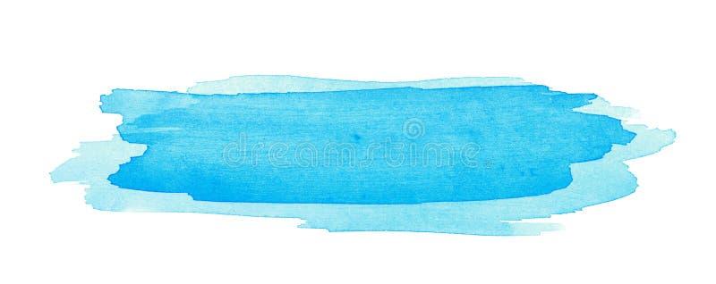 Κτύπημα βουρτσών Watercolor που απομονώνεται απεικόνιση αποθεμάτων