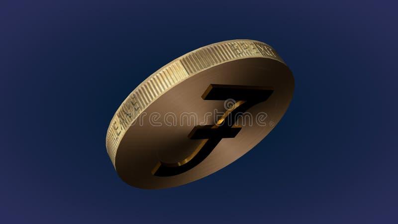 Κτύπημα του νομίσματος με το νόμισμα λιβρών στοκ φωτογραφία
