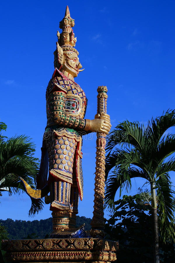 Κτύπημα Riang του Βούδα/Wat στην επαρχία Phang Nga, Ταϊλάνδη στοκ εικόνες
