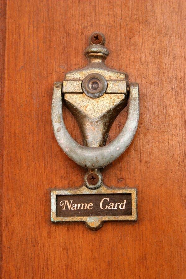 κτύπος πορτών παλαιός στοκ φωτογραφία με δικαίωμα ελεύθερης χρήσης
