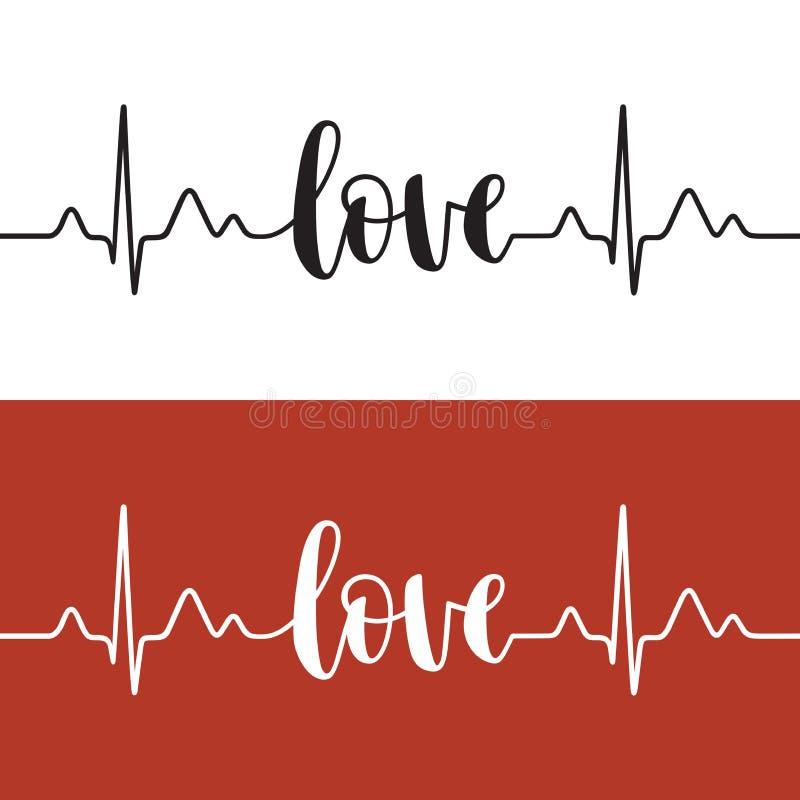 Κτύπος της καρδιάς της αγάπης ελεύθερη απεικόνιση δικαιώματος