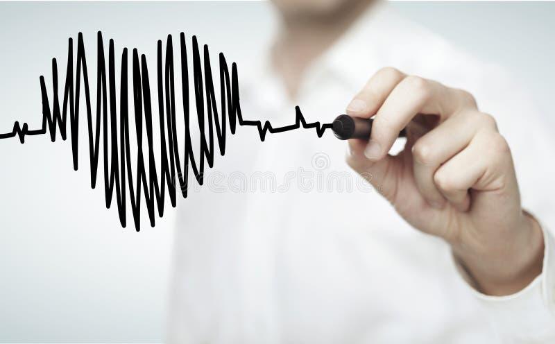 Κτύπος της καρδιάς διαγραμμάτων στοκ εικόνα