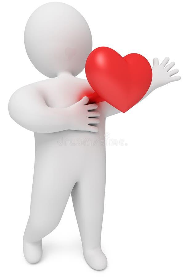 κτύπος της καρδιάς καρδιών στηθών που σχίζεται ελεύθερη απεικόνιση δικαιώματος