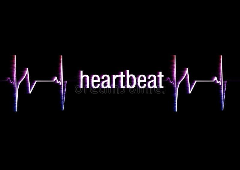 κτύπος της καρδιάς διανυσματική απεικόνιση