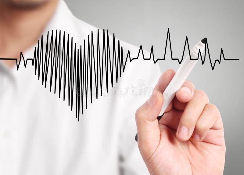 Κτύπος της καρδιάς σχεδίων υψηλής ανάλυσης στοκ εικόνα