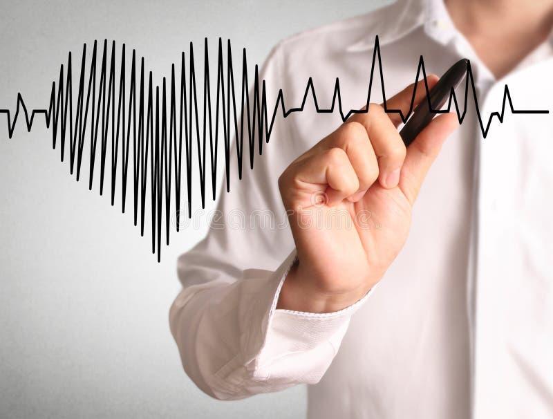 Κτύπος της καρδιάς σχεδίων υψηλής ανάλυσης στοκ εικόνες