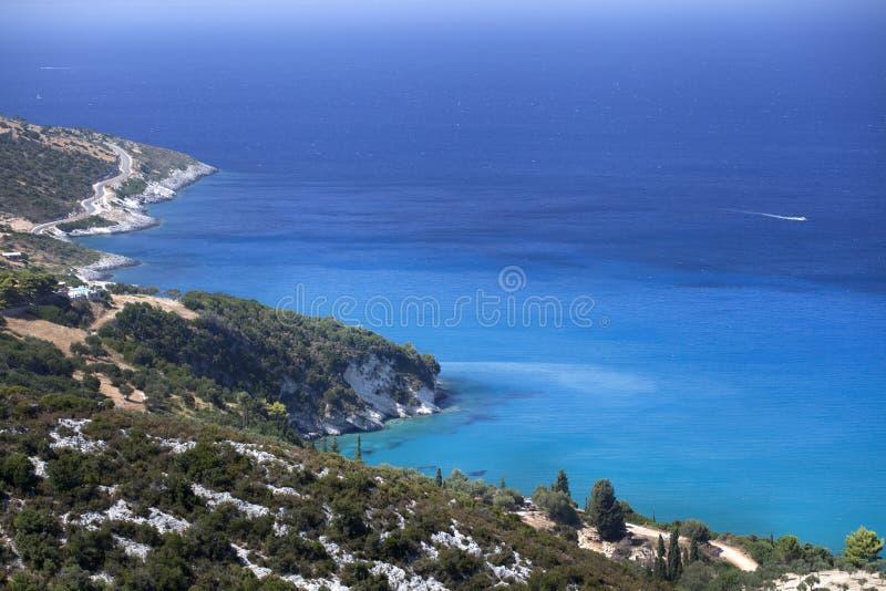 Κυανή ακτή νησί της Ελλάδας, Ζάκυνθος στοκ εικόνες
