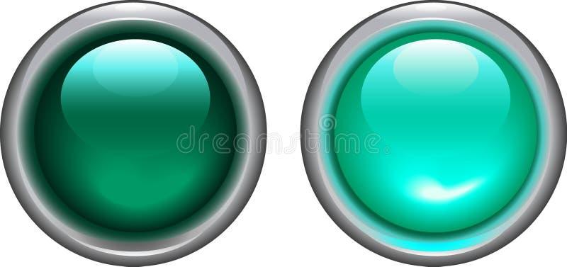 Κυανός σε και από τα κουμπιά - διάνυσμα απεικόνιση αποθεμάτων