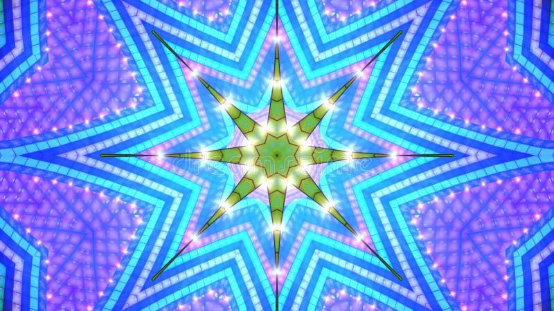 κυανός τόνος αστεριών ανα&s απεικόνιση αποθεμάτων