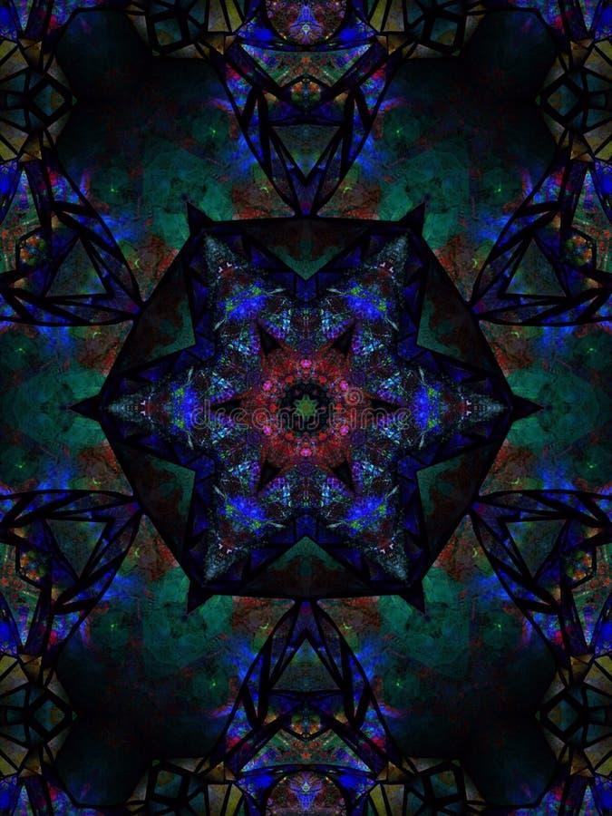 Κυανό μπλε ζωηρό φωτεινό κεντρικό τεμάχιο αστεριών στοκ εικόνα με δικαίωμα ελεύθερης χρήσης
