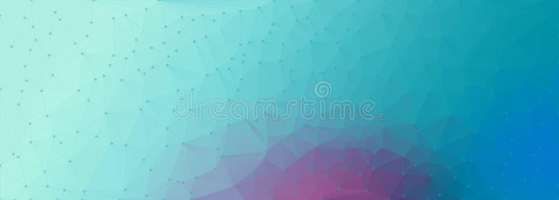 Κυανό πορφυρό backgroun πολυγώνων ελεύθερη απεικόνιση δικαιώματος