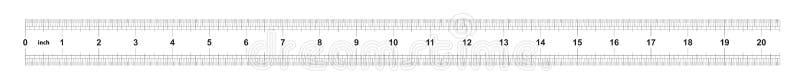 Κυβερνήτης 20 ίντσες αυτοκρατορικός Η τιμή τμήματος είναι 1/32 ίντσα Διπλάσιο κυβερνητών που πλαισιώνεται Ακριβές μετρώντας εργαλ απεικόνιση αποθεμάτων