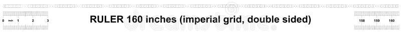 Κυβερνήτης 160 ίντσες αυτοκρατορικός Η τιμή τμήματος είναι 1/32 ίντσα Διπλάσιο κυβερνητών που πλαισιώνεται Ακριβές μετρώντας εργα ελεύθερη απεικόνιση δικαιώματος