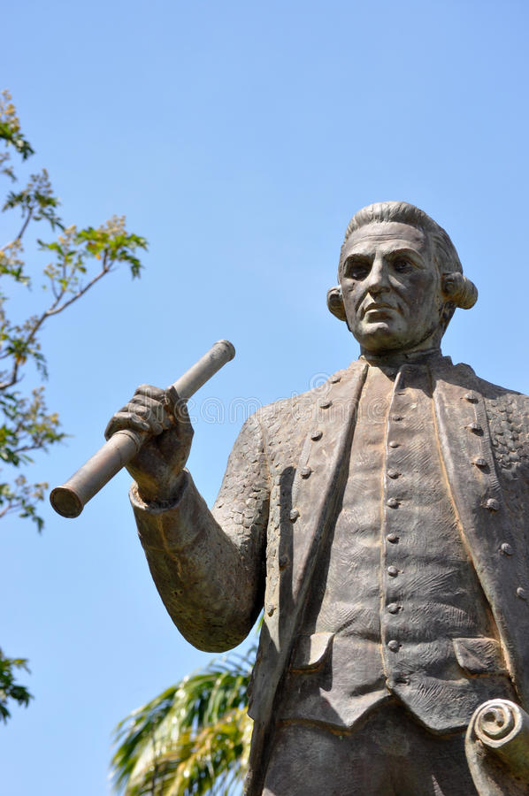 Κυβερνήτης James Cook στοκ εικόνες