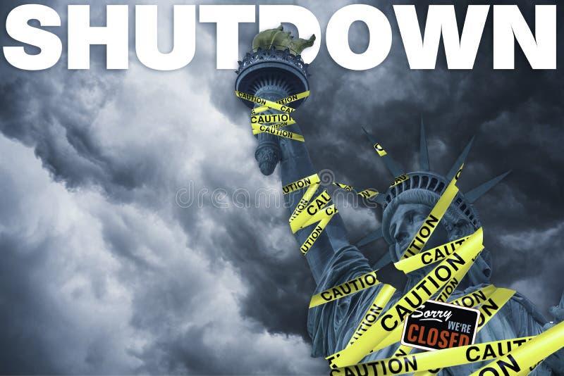 Κυβερνητικά κλείσιμο στις Ηνωμένες Πολιτείες στοκ εικόνες