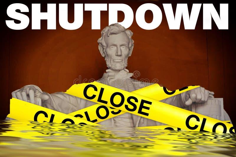 Κυβερνητικά κλείσιμο στις Ηνωμένες Πολιτείες στοκ φωτογραφίες