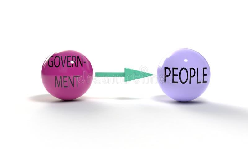 Κυβερνητική και ανθρώπων έννοια, τρισδιάστατη διανυσματική απεικόνιση