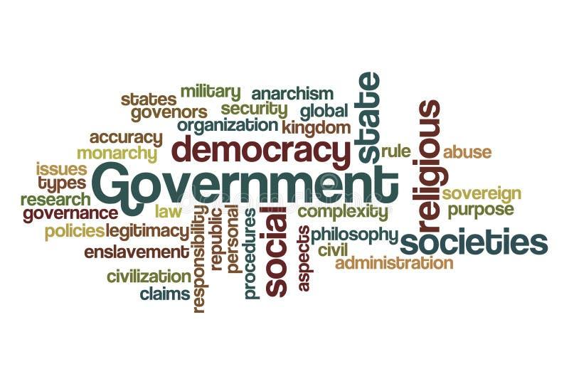 κυβερνητική λέξη σύννεφων ελεύθερη απεικόνιση δικαιώματος