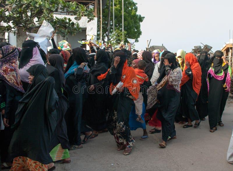 Κυβερνητική προεκλογική εκστρατεία σε Lamu, Κένυα στοκ εικόνες με δικαίωμα ελεύθερης χρήσης