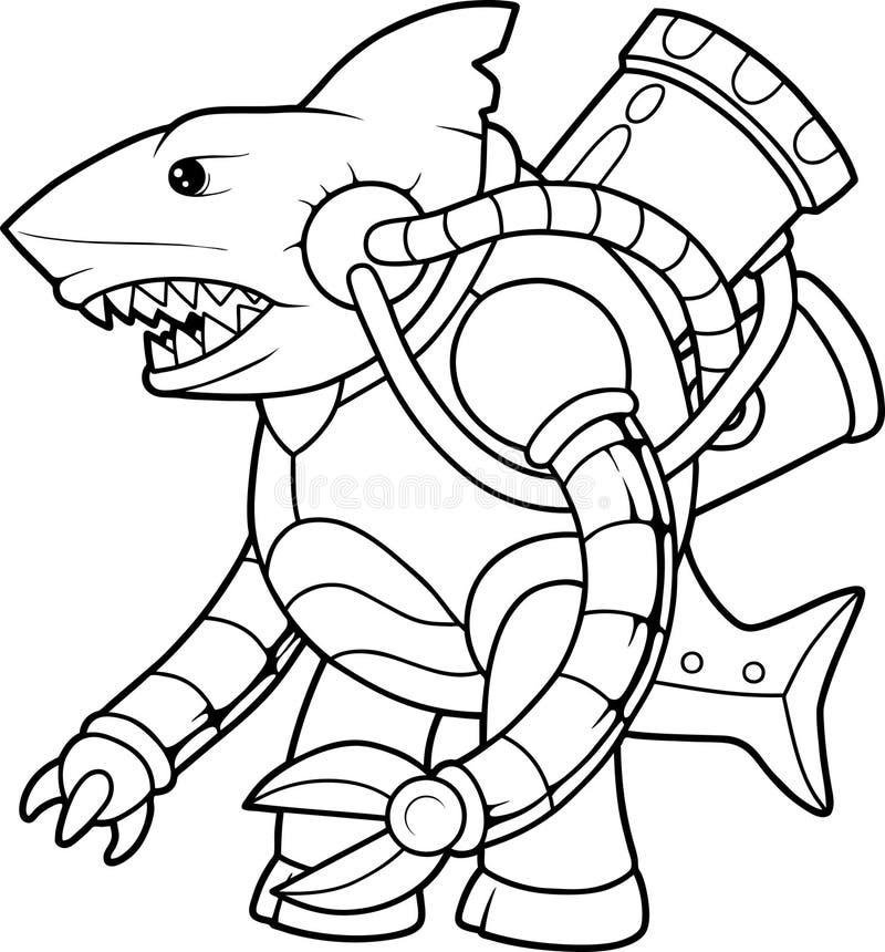 Κυβερνητικός αλλοδαπός καρχαρίας διανυσματική απεικόνιση
