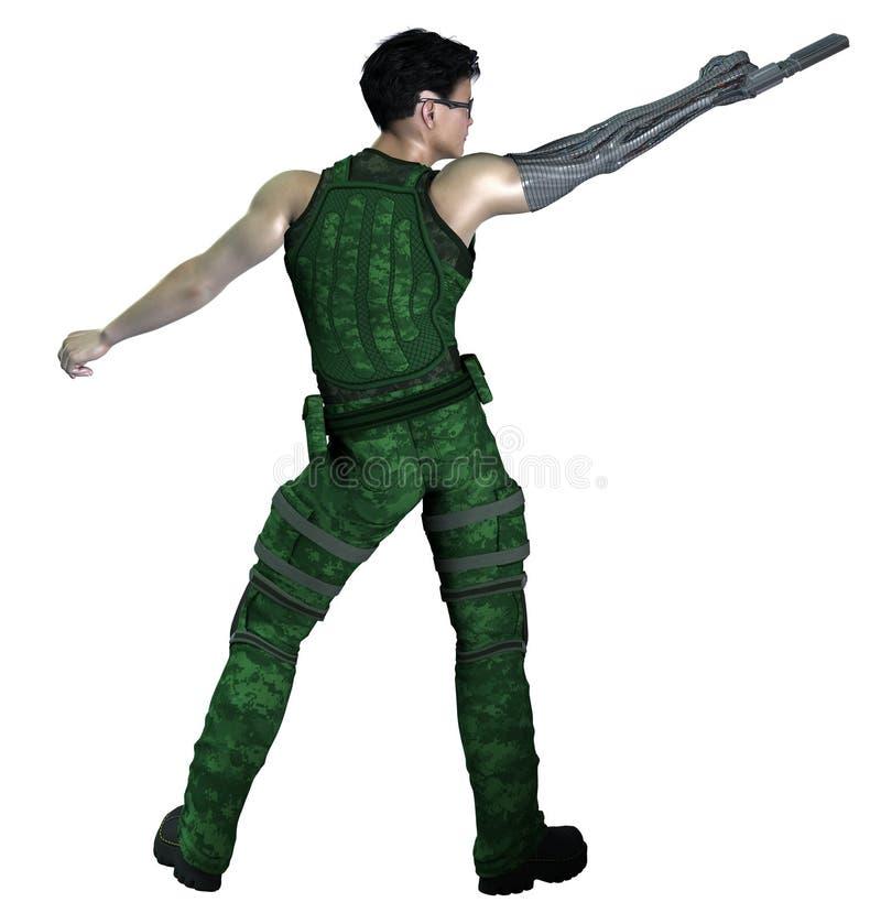 Κυβερνητικός στρατιώτης του μέλλοντος ελεύθερη απεικόνιση δικαιώματος